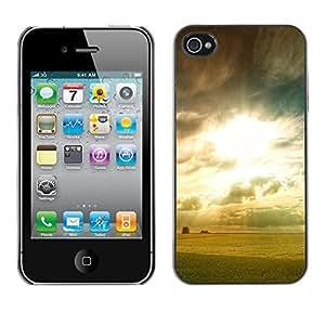 Paccase / SLIM PC / Aliminium Casa Carcasa Funda Case Cover - Dawn photo - Apple Iphone 4 / 4S