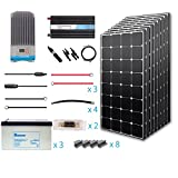 Renogy 800 Watt 12 Volt Premium Solar Complete Kit Monocrystalline with MPPT Charge Controller +Mounts+ 200AH Gel Battery+ 2000W Pure Sinve Inverter