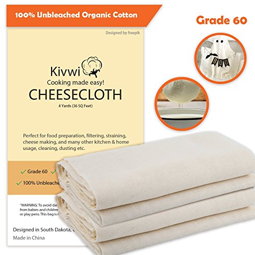 Summer Sale - Cheesecloth, Grade 60, 36 Sq Feet, Reusable, 1