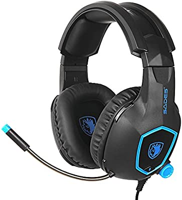 Wired Gaming Headset Noise Cancellation Earphone with Microphone for PS4 Laptop