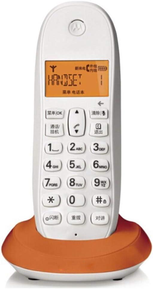BJYG Teléfono inalámbrico Teléfono inalámbrico Identificador de Llamadas Oficina en casa Teléfono Fijo Fijo Teléfono inalámbrico (Color: Naranja): Amazon.es: Hogar