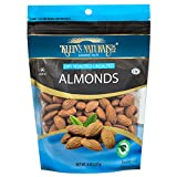 Kleins Natural's Dry Roasted Unsalted Almonds, Almond Nuts, Fresh Raw Almonds are Dry Roasted To Perfection and Unsalted, Dry Roasted Almonds, Quick Healthy Snacks, 8-Ounce (Pack of 4)