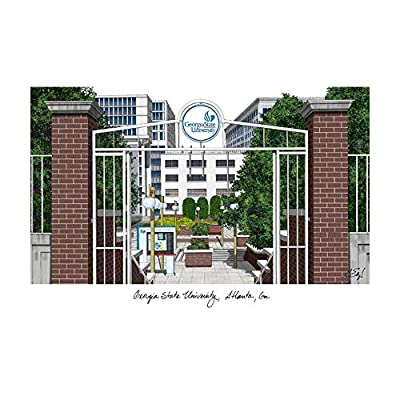 Campus Images Georgia State University Campus Images Lithograph Print