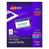 #7: Avery Name Badge Insert Refills, 2-1/4