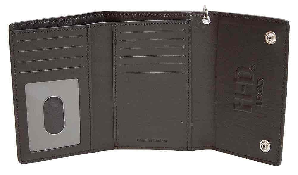 Amazon.com: Harley-Davidson Mens Trifold Wallet, Embossed Bar & Shield, Black CR2314L-Black: Harley-Davidson: Clothing
