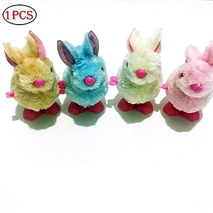 1pc salto de viento de hasta conejito de peluche de juguete conejo mecánica de salto Conejo