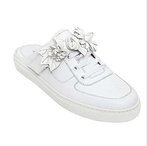 Zapatillas Casual para Mujer Zapatillas Baotou Comfort Mocasines Primavera Verano Blanco Talla 34-40: Amazon.es: Zapatos y complementos