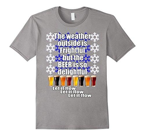 Ugly Christmas T-Shirt Funny Beer Drinking Ugly Christmas