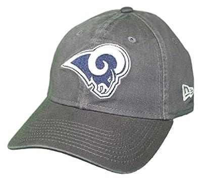 New Era Los Angeles Rams NFL 9Twenty Core Classic Graphite Adjustable Hat by New Era
