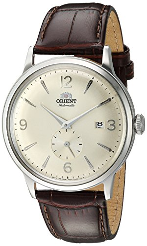 - Orient Men's 'Bambino Small Seconds' Japanese Automatic Stainless Steel and Leather Dress Watch, Color:Brown (Model: RA-AP0003S10A)