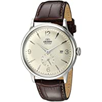 Orient Men's 'Bambino Small Seconds' Japanese Automatic Stainless Steel and Leather Dress Watch, Color:Brown (Model: RA-AP0003S10A)