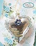 Kelly Rae Roberts Glass Heart Ornament-You Are Loved