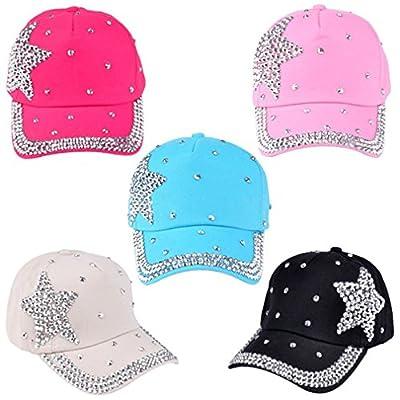 Baby Baseball Cap Rhinestone Star Shaped Boy Girl Snapback Hat Cute Hat from Caplynn