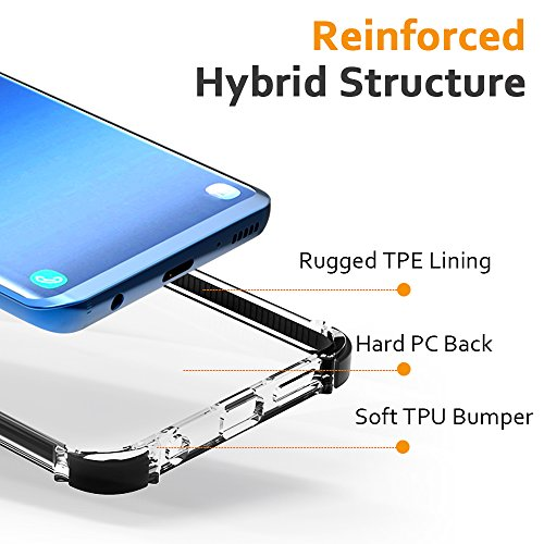 Matone Funda Galaxy S9, [Crystal Clear] [PC+TPU] Parachoques de Absorcion de Choque Alta Resistencia [Ultra Fina] Transparente Flexible Cojín de esquina TPE y marco reforzado Carcasa Protectora para S