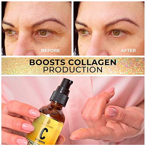 51hjTzKAWqL - Vitamin C Serum for Face (2oz) with Hyaluronic Acid and Vitamin E Natural Skin Care Facial Treatment Neck & Chest Anti-Aging Serum Fights Pigmentation Fine Lines and Wrinkles