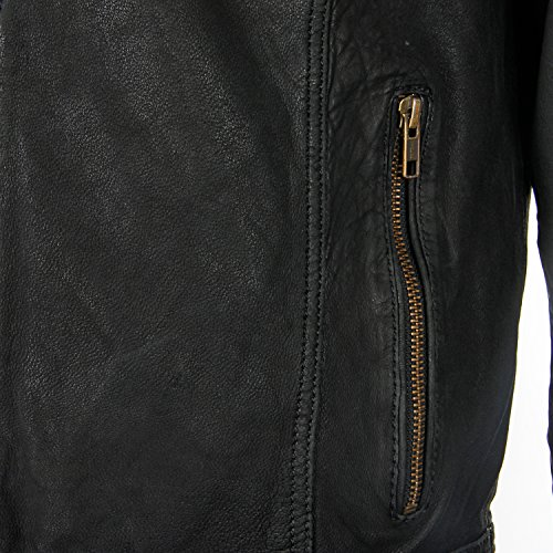 para Yezz hombre Clothing 1001 schwarz piel Chaqueta 7FFwtqfZ
