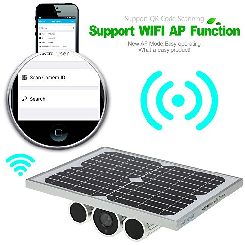Wanscam HW0029 Outdoor Solar Power IP Camera With Battery 720P H.264 8mm Lens Waterproof WiFi Wireless Night Vision IR15m ONVIF2.1 P2P Surveillance Security Camera by KKmoon (Image #4)