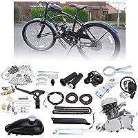 Ambienceo 80cc 2 tiempos Ciclo de pedal Gasolina Gas Motor Kit de conversión de bicicleta para bicicleta motorizada…