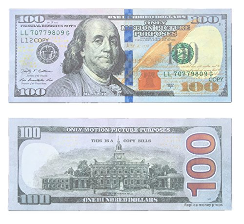 $100X100 Pcs Total $10000 Dollar Non-Monetary Money Advertising & Novelty Only Motion Picture Purposes Bills