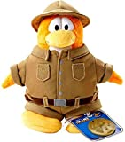 Disney Club Penguin 6.5 Inch Series 2 Plush Figure Explorer (Includes Coin with Code!)
