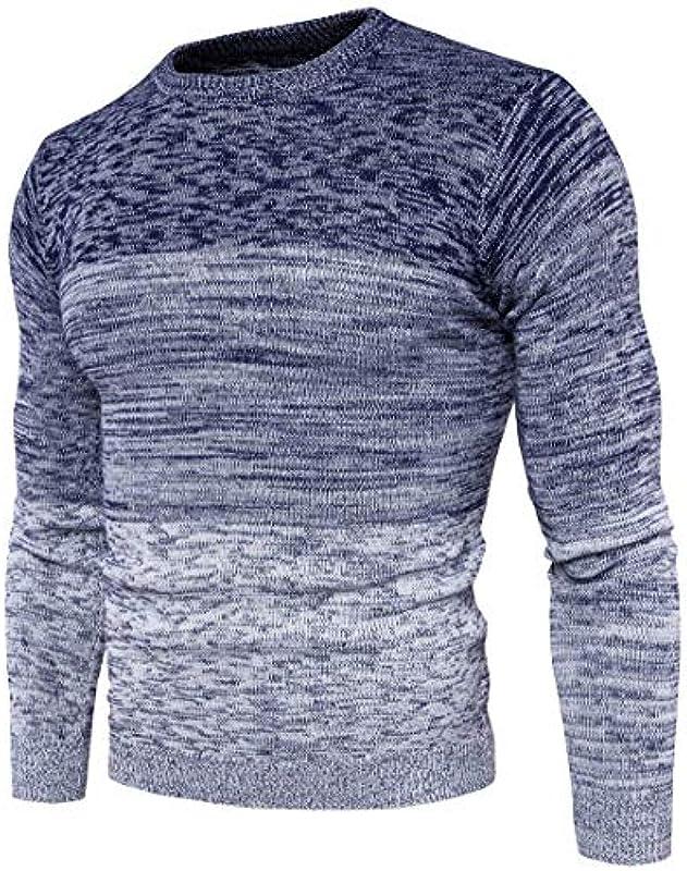 Męski sweter gradient kolor sweter zima dzierganie jesień elegancki prosty styl moda casual długi rękaw sweter dziergany: Odzież