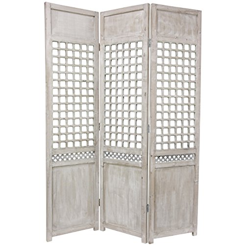Oriental Furniture 6 ft. Tall Open Lattice Room Divider