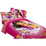 Nick Jr Dora and Friends Hola Amigas Microfiber 64 by 86-Inch Comforter, Twin