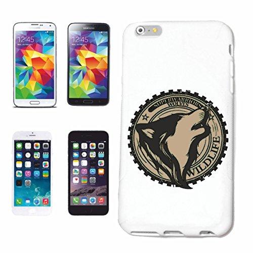 """cas de téléphone iPhone 6+ Plus """"WOLVES SUPER WARRIORS Woves WOLF FAUNE WOLF WOLF PACK WILD WOLVES ANIMAUX FAUNE"""" Hard Case Cover Téléphone Covers Smart Cover pour Apple iPhone en blanc"""