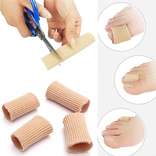 Yosoo 2Pcs Fabric Gel Tube Toe / Finger Bandage, Pain Relief From Blisters, Corns, Calluses and other Ailments Causing Sore Fingers and Toes C (Bandage Callus)