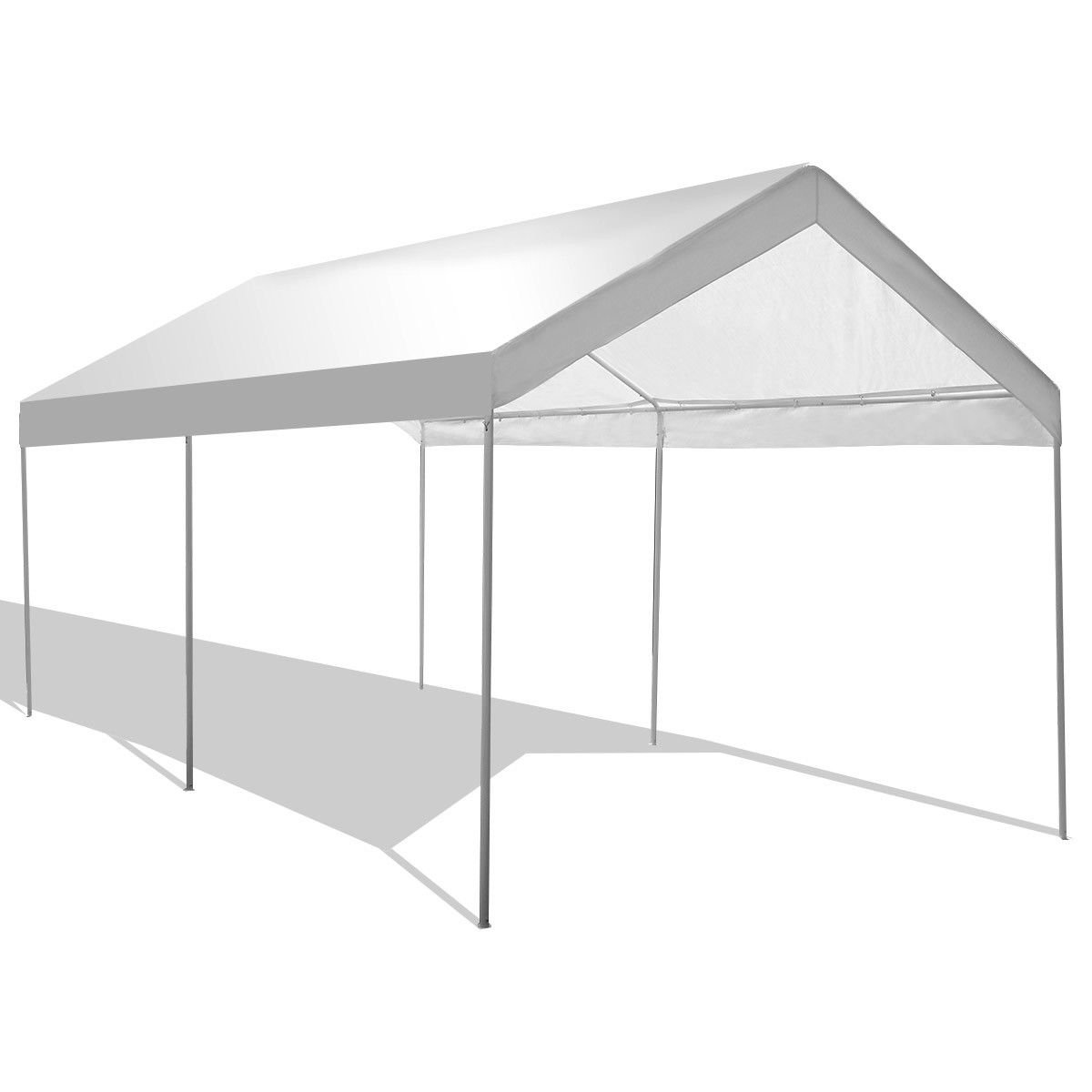 Tangkula Carport 10 x 20 Heavy Duty Portable Car Canopy All-Purpose Water-Resistant Carport Outdoor Party Canopy Garage Cover Instant Shelter