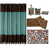 HiEnd Accents Cheyenne Bath Collection Turquoise