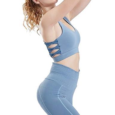 Sujetadores con Espalda Cruzada Sujetador Yoga Push Up ...
