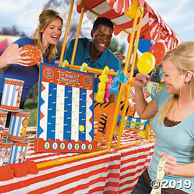 Fun Express Carnival Can Toss Bean Bag Game - Circus Party Games and Decor: Toys & Games
