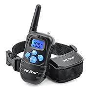 Amazon #LightningDeal 66% claimed: Petrainer PET998DRB1 Rechargeable and Rainproof 330 yd Remote Dog Training Collar with Beep, Vibration and Shock Electronic Electric Collar