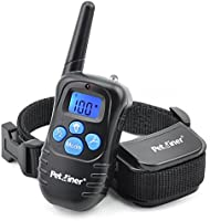 Petrainer Rechargeable and Rainproof 330 yd Remote Dog Training Collar with Beep, Vibration and Shock Electronic Electric Collar