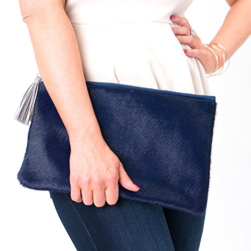 (The Catherine Clutch - Genuine Cowhide