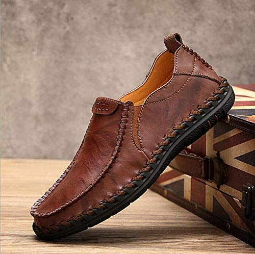 Leisure winered Shoes Formale Traspirante Da Spessa Guida 41 Casual Antiscivolo on Bottom Lavoro Hy All'aperto Uomo Slip Scarpe Business Mens Mocassini qHWFaaP4