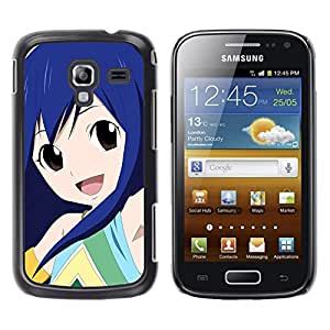 // PHONE CASE GIFT // Duro Estuche protector PC Cáscara Plástico Carcasa Funda Hard Protective Case for Samsung Galaxy Ace 2 / Japonesa de dibujos animados Cute Girl /