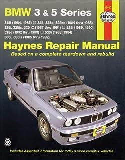 bmw 3 series e30 service manual 1984 1985 1986 1987 1988 rh amazon com