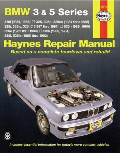 Bmw 3 Series Owners Manual - BMW 3 & 5 Series  '82'92 (Haynes Repair Manuals)
