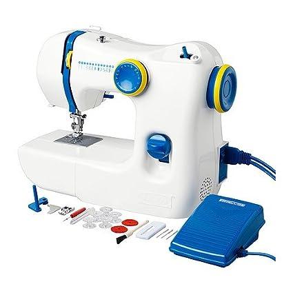 IKEA máquina de coser, blanco/azul + 10-rebajas accesorios-Set.