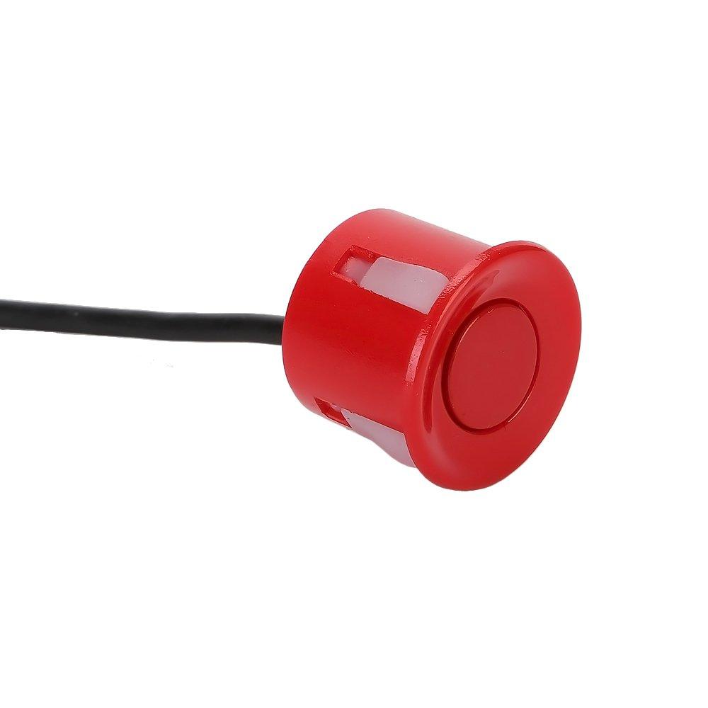 TKOOFN KFZ Summer Einparkhilfe R/ückfahrhilfe 8 Sensoren 4 vorne und 4 hinten Hinter mit LED Farb Display Auto Parken Sensor System Pieper Radar Kit Blau
