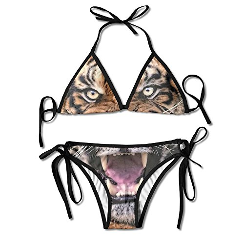 Most Fashion Maker Girls Cool Fierce Tiger King Printing Summer Sexy Two Pieces Beachwear by Most Fashion Maker