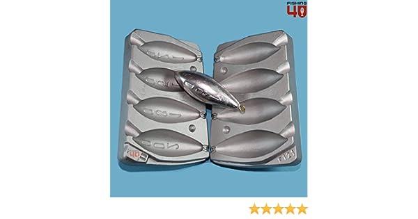 Molde de plomos de pesca en forma de torpedos, 120 - 150 - 180 - 200 g - Para pesca marina, en barco o pesca de carpas: Amazon.es: Deportes y aire libre