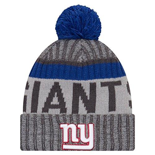 水分回転する山積みのニューエラ (New Era) NFL サイドライン 2017 ボブル ビーニー帽 - ニューヨーク?ジャイアンツ (New York Giants)