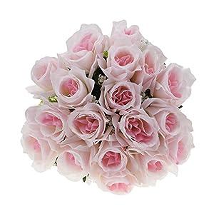 Artificial Rose Flowers 18 Heads Fake Flower Bride Wedding Party Decoration Silk Simulation 105