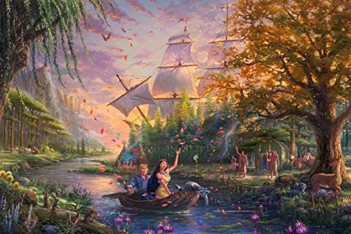 Ceaco 2903-25 Thomas Kinkade The Disney Collection Pocahontas Puzzle - 750Piece -