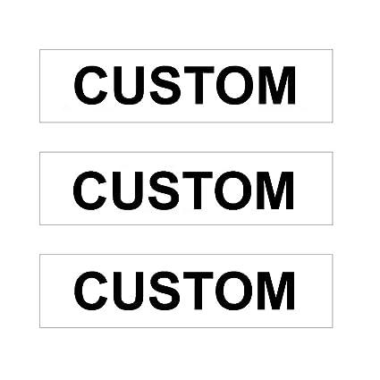 Amazon.com: Paquete de 3 letreros personalizados de metal ...