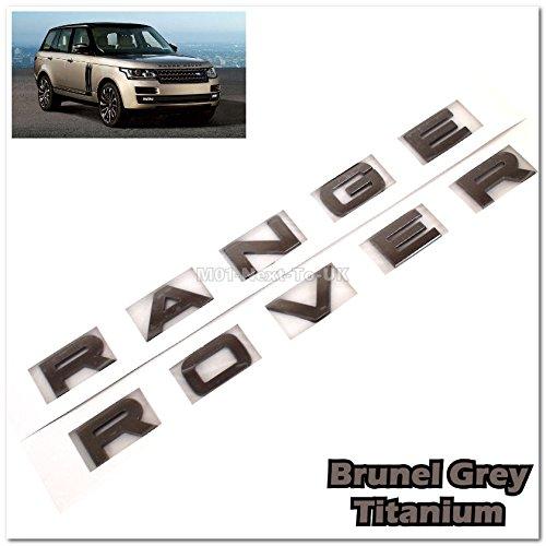 (Range Rover Brunel Grey L322 Hood Tailgate Bonnet Badge Emblem Letter)