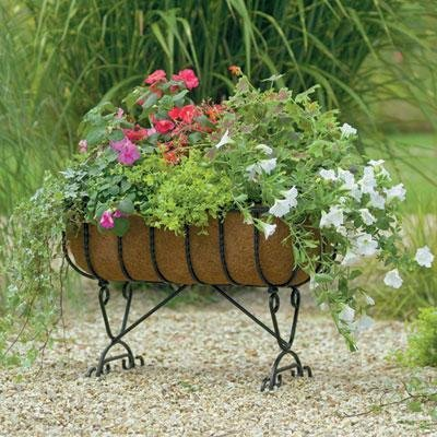 - Gardman R960 Blacksmith Cradle Planter with Coco Liner, 24